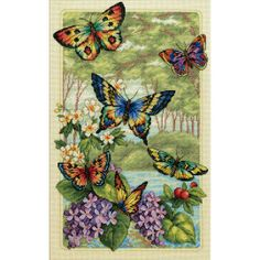 Dimensions Counted Cross Stitch Kit, Butterfly Forest