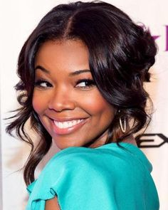 GABRIELLE UNION + FALLING DOWN UPDO / #fashion #hairstyles #summer