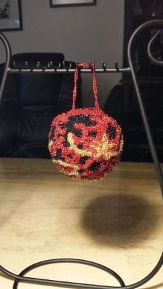 Opposite side of bell ornament
