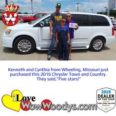 We're rolling out the red carpet for this family, congratulations! 🎉 #wow #wowwoodys #woodysautomotive #cars #trucks #suvs #carsforsale #trucksforsale #suvsforsale #kansascity #chillicothe #customerreviews #customertestimonials #wowcarbuying #carshopping #happycustomers #2016chryslertownandcountry #2016chrysler #chrysler #townandcountry