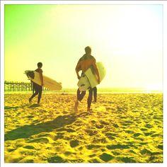 Surfers on Pacific Beach // San Diego, CA