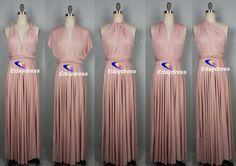 Maxi Full Length Bridesmaid Infinity por Dresslongbridal en Etsy