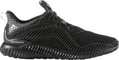 Adidas Alphabounce Mens Running Shoe 9 Black-Silver Metallic-Granite