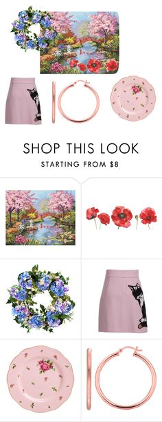 """20"" by efrat-kazoum on Polyvore featuring jcp, Improvements, MSGM and Royal Albert"
