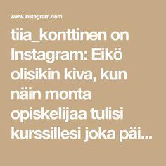 tiia_konttinen on Instagram: Eikö olisikin kiva, kun näin monta opiskelijaa tulisi kurssillesi joka päivä 🥰😍 Kyseessä on erään kurssini opiskelijat maaliskuun toiselta… Audio, Youtube, Instagram, Youtubers, Youtube Movies
