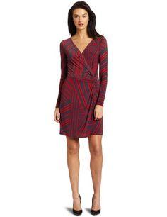 http://amzn.to/H6hvq0              #Nine West Women's Twin Stripe Chiffon #Dress