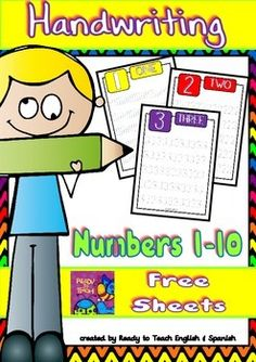Tracing is an important way to work on fine motor skills while learning. Here is a set of sheets to practice handwriting skills related to numbers from 1 to 10.