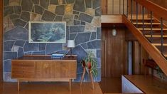 Celebrated Mid-century Modern house in St Heliers up for sale Outside Stairs, Modern Stairs, Wooden Flooring, Midcentury Modern, Saints, Mid Century, Celebrities, Furniture, Design