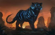 Cool, glow in the dark blue tigers.  Here kitty kitty - Bryan