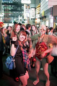 Halloween party in Shibuya, Tokyo Japan.