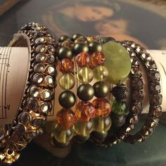 Bundle of 5 gorgeous rhinestone bangle bracelets Beautiful & breathtaking 5 bangles in All in shades of green. One is a wrap bracelet & one is a vintage bracelet that is just stunning. Worn together a stunning fashion statement. 8 inches and stretch. One size fits most Jewelry Bracelets