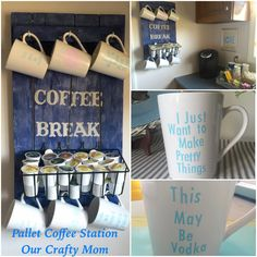 DIY Pallet Coffee Station - Our Crafty Mom