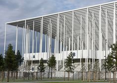 Herzog & de Meuron has completed a monumental new stadium in Bordeaux framed by 900 slim white columns.
