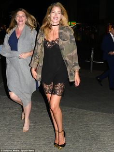 Leggy in an LBD: Doutzen Kroes traded the glittering waters of Ibiza and St. Tropez for the edgy and chic streets of Berlin on Wednesday