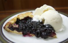 Blueberry Ginger Galette - a delicious and easy dessert made with blueberries and crystallized ginger. Great with a side of ice cream!