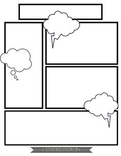Comic Book Templates – Free Printable Pages – The Kitchen Table Classroom We write a lot.Basically any excuse for my kids to take pen to paper and I'm there.These free comic book templates printables are a fun way to keep your kids writing! Blank Comic Book Pages, Comic Book Paper, Comic Book Layout, Comic Book Girl, Free Comic Books, Comic Book Artists, Comic Books Art, Comic Strip Template, Comic Strips