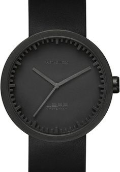 06c1024a WATCH - LEFF AMSTERDAM - CASE STEEL D42 - BLACK - PRICE $219 Черные Часы,