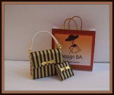 Bag dollhouse miniature 112 scale 3Pcs by DesignBA on Etsy, $30.00