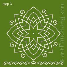 Lakshmi Hridaya Rangoli Step 3