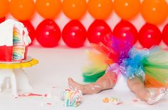 cake hangover, sugar, sweet, candy, bright, theme cakes, cake design, baker, cupcake, bakery, tutu, 1st birthday outfit, rainbow birthday cake, 1 year old, birthday girl, rainbow cake, cake smash party, photographer, GilmoreStudios.com