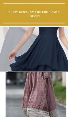 This short chiffon navy blue bridesmaid dress with tiered ruffles skirt is sold under 100. Custom made to all sizes. Buy  inexpensive bridesmaid dress at colorsbridesmaid.com to attend a spring or summer wedding. china ColsBM Grace - Navy Blue Bridesmaid Dresses