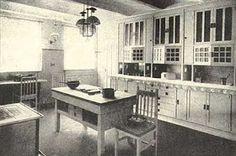 1920s craftsman style kitchen
