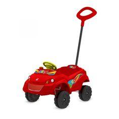 Kid Car Bandeirante Passeio - 557 Um super carro para os pequenos darem um lindo passeio. O Kid Car Bandeirante tem tudo o que seu filho precisa para um passeio seguro! Conta cinto de segurança, freio de segurança e haste removível com trava de...