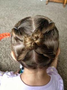 Cross Bun Hairstyle for Little Girls
