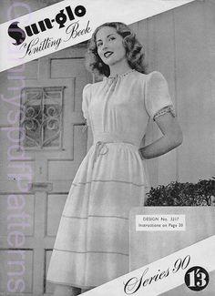 1940s knitting Patterns PDF Copy of Sunglo by GrannyspdfPatterns
