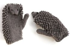 Aren't these hedgehog mittens the cutest things you've ever seen? I love them. It's probably too late for you to make these for Christmas 2010 but they would be a great project for the doldrums that set in after the holidays. Order kit here. They will be the most lovable things you'll ever knit to wear on your hands.