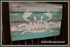 Beachy Pallet Artwork #beach #pallet