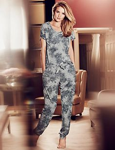 Light Grey Mix Floral Pyjama Bottoms