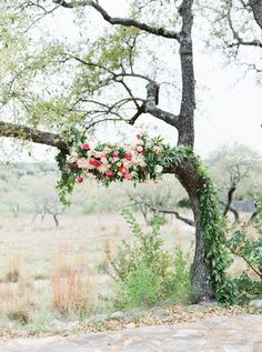 Romantic + rustic ceremony backdrop: http://www.stylemepretty.com/texas-weddings/2016/07/07/a-blanket-of-bluebonnets-made-for-the-ultimate-hill-country-wedding/ | Photography: Loft Photography - http://www.loftphotography.com/