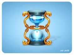 Dribbble - Water Hourglass by Victor Soto
