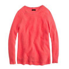 Neon Guava Textured-Stitched Sweater - J Crew