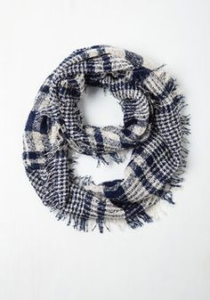 Wrap Song Circle Scarf in Navy