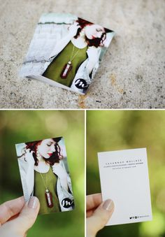 M A I E D A E - Savannah wearing Roots and Feathers on her new business cards from Moo!  So wonderful!