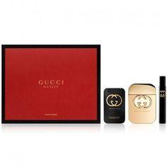 Estuche de regalo del #perfume para mujer Gucci Guilty de #Gucci  https://perfumesana.com/gucci-guilty/2127-gucci-guilty-estuche-edt-75-ml-spray-body-lotion-100-ml-edt-74-ml-8005610474304.html