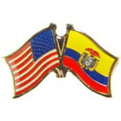 """American & Ecuador Flags Pin 1"""" by FindingKing. $8.50. This is a new American & Ecuador Flags Pin 1"""""""