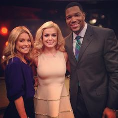 Singer Katherine Jenkins after she perfomed on #KellyandMichael