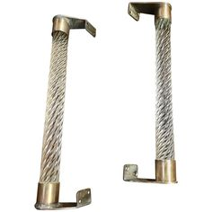 A pair of beautiful Venini Italian, 1950s Handles in Brass and Murano Glass | 1stdibs.com