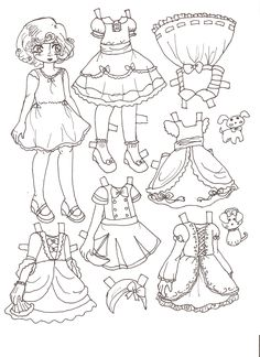 Heidis Friend LALA Inspired By Lala Oopsie Dolls Paper Doll Melissa Smith