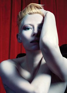 Tilda Swinton by Mario Sorrenti for W Magazine, November 2012.