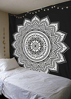 Mandala indio ombre negro algodón bohemio tapiz de la pared cuelgan tapices-en Tapicería de Textil Para Hogar en m.spanish.alibaba.com.