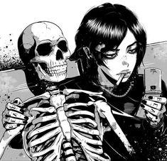 Manga Girl, Manga Anime, Anime Art, Dark Anime Girl, Anime Kiss, Gothic Anime, Images Terrifiantes, Arte Punk, Arte Obscura