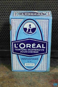 boite paquet shampoing teinture barbe cheveux ancienne ancien l'oreal loreal…