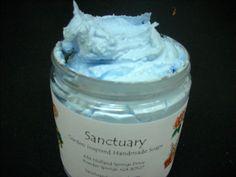 ALIEN WHIPPED SOAP 8 oz Jar Creamy Pale Blue by SanctuarySoap, $10.95