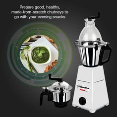 Featuring stainless steel blades, 3-speed motor and a unique patented safety mechanism, the Tecnora Avatar Mixer Grinder makes lip-smacking chutneys & dips within minutes. To know more, visit: http://bit.ly/1AoSzEa
