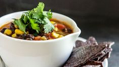 30-Minute Southwest Black Bean #Soup #Recipe
