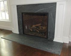 Absolute Black Granite Honed Hearth Granite. jet mist hearth